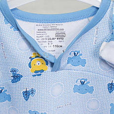 Детские пижамы для девочек 1-3-5лет, 2208фуп , хлопок-теплая, в наличии 92,104,116 Рост, фото 3