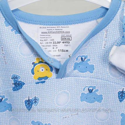 Детские пижамы для мальчика _110_116см, теплый трикотаж, 2208фуп, в наличии 92,104,116 Рост, фото 2
