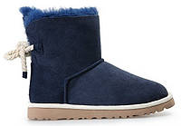 Женские угги UGG Mini Bailey Bow Selene, мини угги угг австралия синие