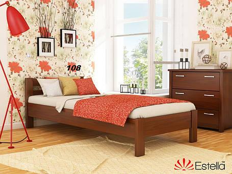 Кровать Рената односпальная Бук Щит 108 (Эстелла-ТМ), фото 2