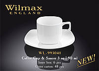 Чашка кофейная с блюдцем 90мл, Wilmax 164537, П/1