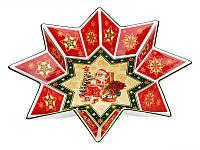 Блюдо фарфоровое Новогодняя коллекция 32 см 586-005