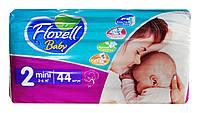Детские подгузники Flovell Baby Mini 2 (3-6 кг) - 44 шт.