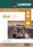 Односторонняя матовая фотобумага, A4, 230 г/м2, 50 листов