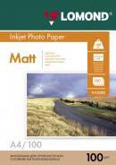 Двусторонняя матовая/матовая фотобумага, A4, 100 г/м2, 100 листов