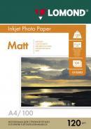 Односторонняя матовая фотобумага, A4, 120 г/м2, 100 листов