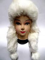 Теплая шапка ушанка женская