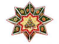Блюдо фарфоровое Новогодняя коллекция 32 см 586-006