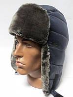 Тёплая шапка ушанка мужская