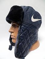 Зимняя теплая шапка ушанка мужская NIKE