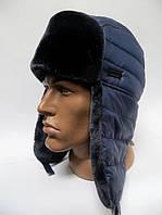 Зимняя теплая шапка ушанка мужская