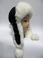 Тёплая шапка ушанка женская