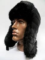 Зимняя стильная шапка ушанка мужская