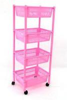 Детская этажерка розовая