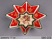 Блюдо керамическое Новогодняя коллекция 17 см 586-009