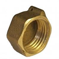 Заглушка латунь диаметр 25 внутренняя резьба