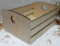 Ящик полосатый с кругом, 12х18х25 см
