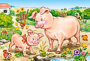 """Пазлы Castorland B-04416 """"Животные. Мамы и дети"""" 4 в 1  (B-04416), фото 6"""