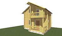 Дерев'яний будинок 62 м2, фото 1