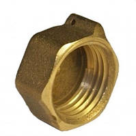 Заглушка латунь діаметр 15 внутрішня різьба