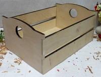 Ящик полосатый с кругом -3, 12х18х25см