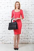 Сукня футляр декольте червона
