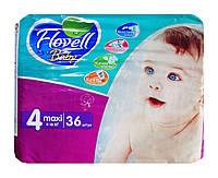 Детские подгузники Flovell Baby Maxi 4 (9-18 кг) - 36 шт.