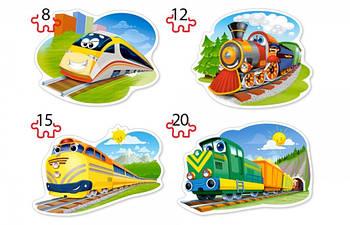 """Пазлы Castorland B-043033 """"Забавные паровозики"""" 4 в 1  (B-043033)"""