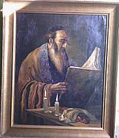 "Картина ""Чтение Торы "" M.Polarh 1920-е годы"
