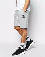 Шорты Adidas, шорты адидас, серые ,лого под карманом, ф3469