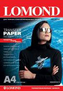 Lomond Ink Jet Transfer Paper for Dark Cloth, A4, 140 г/м2, 10 листов