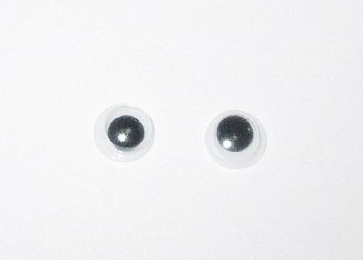 Круглые глазки для игрушек 6 мм