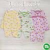 Детские пижамы для девочек 1-3-5лет, 2208фуп , хлопок-теплая, в наличии 92,104,116 Рост