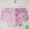 Детские пижамы для девочки 110-116-см, теплый трикотаж, 2208фуп, в наличии 92,104,116 Рост