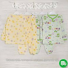 Детские пижамы для девочек 1-3-5лет, 2208фуп , хлопок-теплая, в наличии 92,104,116 Рост, фото 2