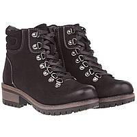 Ботинки женские Sergio Leone (черные, на шнурках, стильные, удобные, практичные)