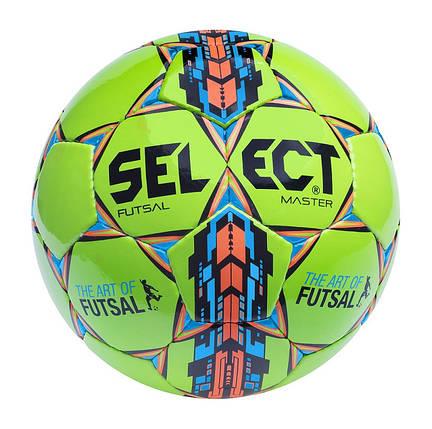 Мяч футзальный мини-футбольный  SELECT Futsal Master IMS зелёный, фото 2