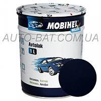 Автоэмаль однокомпонентная автокраска алкидная 456 Тёмно-синяя Mobihel, 1 л