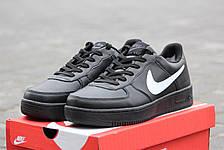 Мужские черны кроссовки Nike Air Force Зима! 46р, фото 2