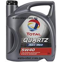 Моторное масло Total 5W40 -5L QUARTZ INEO MC3