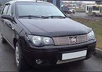 """Дефлектор капота Fiat Albea 2002 и выше (Fiat Siena) """"SIM"""" темный"""