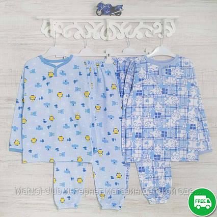Детские пижамы для мальчика 98_104_см, теплый трикотаж, 2208фуп, в наличии 92,104,116 Рост, фото 2