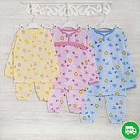 Пижамы детские теплые 1_3_5лет,2208фуп  трикотаж с начесом, 2208фуп, в наличии 92,104,116 Рост