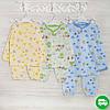 Пижамы для мальчиков 1-3_5_лет, трикотаж с начесом,2208фуп, в наличии 92,104,116 Рост