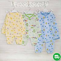Пижамы для мальчиков 1_3_5лет,  трикотаж с начесом, 2208фуп, в наличии 92,104,116 Рост