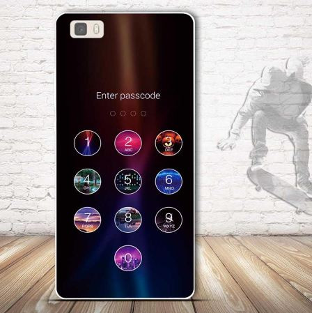 Силиконовый чехол бампер для Huawei P8 Lite с картинкой Enter Passcode
