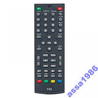 Пульт DVB-T2 ресиверів World Vision T35/T55/T55D