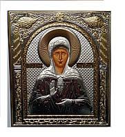 Святая Матрона Московская Икона греческая 108 мм х 121 мм серебряная с позолотой