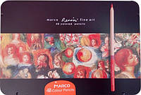 "Цветные карандаши Marco ""Renoir Fine Art""  48 цветов, ТМ Марко, FineArt-48-tn"