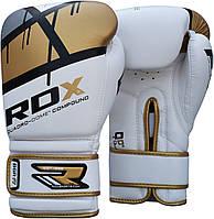Перчатки боксерские RDX Boxing Glove BGR-F7 Gold 10oz, фото 1